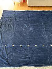 Hawthorne Hill Duvet Cover Navy Blue Cotton Textured Woven Button Front