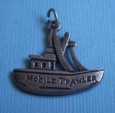 Vintage Mobile Trawler Alabama fishing boat sterling charm