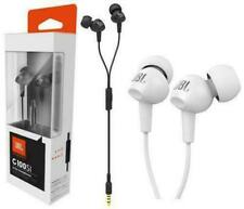 NEW JBL C100SI In-Ear Headphones by Harman- White+free iWatch charger for Apple