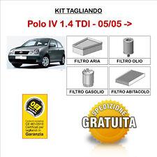 KIT TAGLIANDO VW Polo IV 1.4 TDI 05/05->