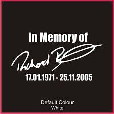 Richard Burns homenaje Calcomanía, Subaru, Clio, Vinilo, etiqueta engomada, gráficos, coche, N2105