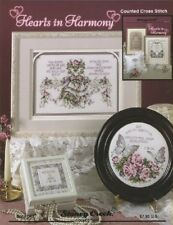 Cross Stitch Pattern Book HEARTS In HARMONY ~ 7 Announcement Designs