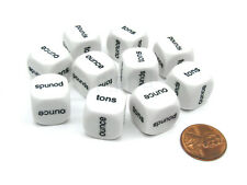 Pack of 10 16mm Educational Math Weights Dice - ounce pounds tons