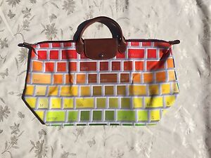 SALE! LONGCHAMP X JEREMY SCOTT Le Pliage Keyboard Bag NEW AND LIMITED XLARGE