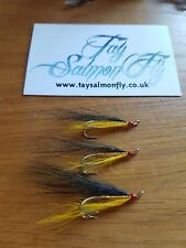 3x Flat Gold Tosh Size 6 Double Salmon Fishing Flies
