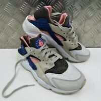 Nike Air Huarache Uk 8.5 Grey Pink Blue Cement 318429-046 Trainers Sports Gym