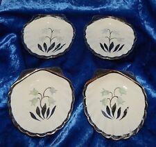 4 English Ware Lancaster Sandland Ltd. Hanley England Dish Butter Pats~Bluebells