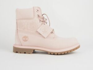 Womens Timberland A1TKO 6 Inch Premium Light Pink Leather Waterproof Boots