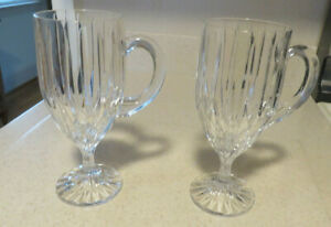 Mikasa Park Lane Irish Coffee Stemmed Mugs--Set of 2 Excellent!