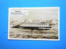 """RPPC 1938 """" KALAKALA' World's Fiest Streamlined Vessel, Motor Ferry, Seattle"""