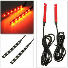 New 2X 6 LED Turn Signals Motor Cycle Sports Bike Lite Blinker Strips Tail Light