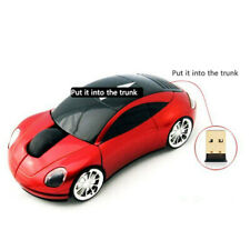 Red Car Shaped Wireless Mouse Up To 1000DPI Optical For Gamer Gaming Mouse