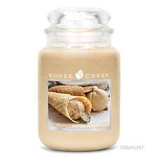 Goose Creek Premium grande rotonda profumata Candela CANDELA Barattolo zucchero burro di arachidi DUAL Wick