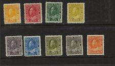 Canada   Gerorge  V  stamps  mint  hinged  catalog  $445.00              KEL0612