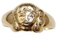 Girl Ring 18k Gold Plated Ring - Baby Girl Ring Size 2 to 5