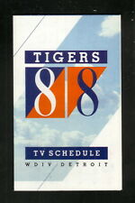Detroit Tigers--1988 Pocket Schedule--WDIV/General Tire