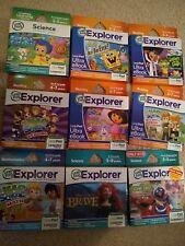 NEW leapfrog GAMES SELECTION: Sponge Bob Sesame Street Dora Math Reading Letters