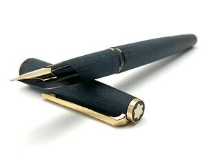 Vintage Montblanc 220 Matte Black Brushed Finish Fountain Pen [003]