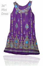 Indian RAYON KURTI ETHNIC BLOUSE BLUSA DRESS TOP HIPPy boho women ehs retro vtg
