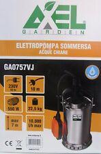 POMPA ELETTROPOMPA SOMMERSA X ACQUE CHIARE 230V CAVO 10MT 22,5KG 550W 10.000L/H