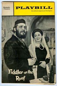 Vintage 1968 FIDDLER on the ROOF at MAJESTIC Playbill! Harry GOZ! Bette MIDLER!
