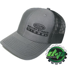 Ford Powerstroke richardson 112 hat truck Charcoal GRAY black mesh snap back