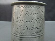 More details for antique pub pewter tankard general wolfe westerham by hux