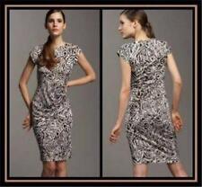 DVF Diane Von Furstenberg ROCCO Silk Jersey Dress Tribal Tattoo 2 US $298