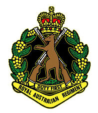 Royal Australian Regiment Vinyl Decal 90mm by 73 Mm Apr. Gloss Laminated
