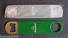 2 Heineken Lager Beer Bottle Openers Pub Bar Blades Rubber Grip Man Cave New