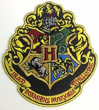 HARRY POTTER Movie The 4 Houses of Hogwarts Large Crest Iron-On Patch