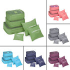 6 Pcs Waterproof Clothes Storage Bags Packing Cube Travel Luggage Organizers LY