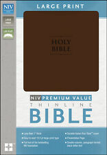 NIV Premium Value Thinline Large Print Bible, Imitation Leather, Chocolate