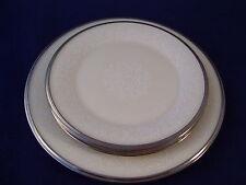 Lenox Moonspun 2 Bread Dessert Plates 1 Salad Plate USA Retired Vintage