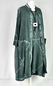 Kekoo cotton Dress & Coat size M/L  MOSS GREEN