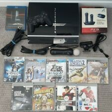 PLAYSTATION 3 PS3 FAT Console MOVE MOTION CAMERA Controller LOT + EXTRAS