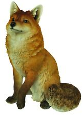 Vivid Arts Large Sitting Fox Highly Detailed Garden Ornament