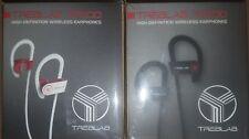 2 pair treblab (1 White  1 Black) high definition wireless earphones NEW fr/shpg