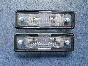 Für BMW E30 Kennzeichenbeleuchtung HELLA SATZ kpl. NEU mit Schrauben und Birnen