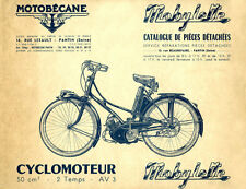 Mobylette Motobecane Moped AV3 Spare Parts Manual in French on CD