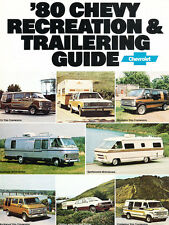 1980 Chevrolet Motorhome Van 28-page Original Brochure - Camper Chevy Airstream
