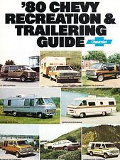 1980 Chevrolet Motorhome Van 28-page Original Brochure - Camper Chevy Airstream