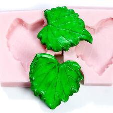 Grape Leaf Silicone Mold Set  Food Safe Moulds Gumpaste Resin Polymer Clay (229)