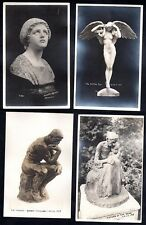 PANAMA 1915 PACIFIC INT'L EXPO COLLECTION OF 14 ORIGINAL PHOTO CARDS OF WORKS OF