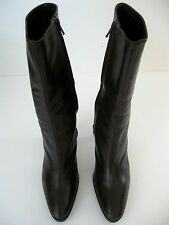 MIMA WOMANS BROWN LEATHER MID CALF BOOTS SIZE 39 1/2