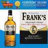 Personalised Whiskey Scotch Bottle Label, Perfect Birthday Gift