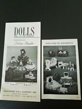 Dolls Are Little People By Madame Alexander  Vintage Booklet & 1 Page With...