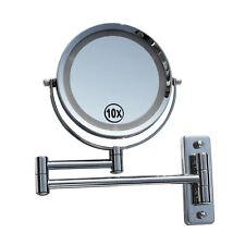 LED Licht Doppel Schminkspiegel Make up Spiegel Kosmetikspiegel 10-fach 405261