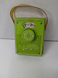 Vintage 1970's Fisher Price Pocket Radio Toy Happy Birthday Music Box Works