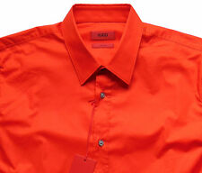 Men's HUGO BOSS Red Orange Shirt Medium M NWoT NEW Slim Fit ELISHA